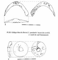 Chronicle of the Archaeological Excavations in Romania, 2000 Campaign. Report no. 67, Gălăţui, Movila Berzei (Movila Coteţ, Movila Verde)<br /><a href='http://foto.cimec.ro/cronica/2000/067/pl-iii-pandantiv-roata.jpg' target=_blank>Display the same picture in a new window</a>