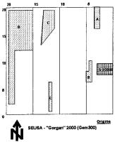 Cronica Cercetărilor Arheologice din România, Campania 2000. Raportul nr. 198, Şeuşa, Gorgan<br /><a href='http://foto.cimec.ro/cronica/2000/198/fig2-g-1-copy.gif' target=_blank>Priveşte aceeaşi imagine într-o fereastră nouă</a>