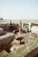 Chronicle of the Archaeological Excavations in Romania, 2001 Campaign. Report no. 2, Adâncata, Imaş<br /><a href='http://foto.cimec.ro/cronica/2001/002/t2-central-demontare-aafasfs.jpg' target=_blank>Display the same picture in a new window</a>