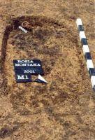 Chronicle of the Archaeological Excavations in Romania, 2001 Campaign. Report no. 181, Roşia Montană, Cârnic (Piatra Corbului).<br /> Sector Imagini_detaliu_necropola.<br /><a href='http://foto.cimec.ro/cronica/2001/181/Imagini-detaliu-necropola/010.JPG' target=_blank>Display the same picture in a new window</a>