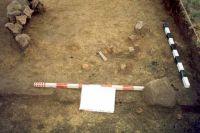 Chronicle of the Archaeological Excavations in Romania, 2001 Campaign. Report no. 181, Roşia Montană, Cârnic (Piatra Corbului).<br /> Sector Imagini_detaliu_necropola.<br /><a href='http://foto.cimec.ro/cronica/2001/181/Imagini-detaliu-necropola/076.JPG' target=_blank>Display the same picture in a new window</a>