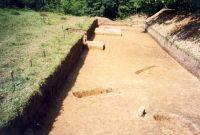 Chronicle of the Archaeological Excavations in Romania, 2001 Campaign. Report no. 181, Roşia Montană, Cârnic (Piatra Corbului).<br /> Sector Imagini_detaliu_necropola.<br /><a href='http://foto.cimec.ro/cronica/2001/181/Imagini-detaliu-necropola/080.JPG' target=_blank>Display the same picture in a new window</a>