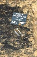 Chronicle of the Archaeological Excavations in Romania, 2001 Campaign. Report no. 181, Roşia Montană, Cârnic (Piatra Corbului).<br /> Sector Imagini_detaliu_necropola.<br /><a href='http://foto.cimec.ro/cronica/2001/181/Imagini-detaliu-necropola/085.JPG' target=_blank>Display the same picture in a new window</a>