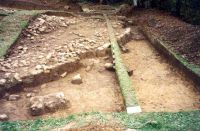 Chronicle of the Archaeological Excavations in Romania, 2001 Campaign. Report no. 182, Roşia Montană, Carpeni (Bisericuţă)<br /><a href='http://foto.cimec.ro/cronica/2001/182/gauri-drum-roman-mnuai-03.jpg' target=_blank>Display the same picture in a new window</a>