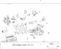 Cronica Cercetărilor Arheologice din România, Campania 2001. Raportul nr. 183, Roşia Montană, Tăul Secuilor (Pârâul Porcului).<br /> Sectorul Planse.<br /><a href='http://foto.cimec.ro/cronica/2001/183/Planse/DALEA105.jpg' target=_blank>Priveşte aceeaşi imagine într-o fereastră nouă</a>