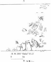 Cronica Cercetărilor Arheologice din România, Campania 2001. Raportul nr. 183, Roşia Montană, Tăul Secuilor (Pârâul Porcului).<br /> Sectorul Planse.<br /><a href='http://foto.cimec.ro/cronica/2001/183/Planse/DALEA106.jpg' target=_blank>Priveşte aceeaşi imagine într-o fereastră nouă</a>