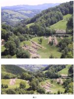 Chronicle of the Archaeological Excavations in Romania, 2001 Campaign. Report no. 188, Roşia Montană, Cârnic (Piatra Corbului).<br /> Sector Piese_inventar_necropola.<br /><a href='http://foto.cimec.ro/cronica/2001/188/hop-botar-mnir-2.jpg' target=_blank>Display the same picture in a new window</a>