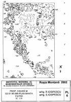 Cronica Cercetărilor Arheologice din România, Campania 2002. Raportul nr. 2, Abrud, Valea Seliştei (Seliştei Valley).<br /> Sectorul planuri.<br /><a href='http://foto.cimec.ro/cronica/2002/002/planuri/06.jpg' target=_blank>Priveşte aceeaşi imagine într-o fereastră nouă</a>