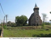 Chronicle of the Archaeological Excavations in Romania, 2003 Campaign. Report no. 172, Sântimbru, Biserica Reformată<br /><a href='http://foto.cimec.ro/cronica/2003/172/santimbru-biserica-reformata-2.JPG' target=_blank>Display the same picture in a new window</a>