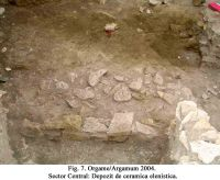 Chronicle of the Archaeological Excavations in Romania, 2004 Campaign. Report no. 129, Jurilovca, Capul Dolojman.<br /> Sector 02-poze-sector central.<br /><a href='http://foto.cimec.ro/cronica/2004/129/rsz-7.jpg' target=_blank>Display the same picture in a new window</a>