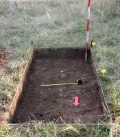 Chronicle of the Archaeological Excavations in Romania, 2008 Campaign. Report no. 25, Craiva, Piatra Craivii<br /><a href='http://foto.cimec.ro/cronica/2008/025/12-curaturi-sj1.jpg' target=_blank>Display the same picture in a new window</a>