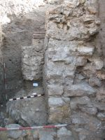 Chronicle of the Archaeological Excavations in Romania, 2008 Campaign. Report no. 34, Hârşova, Tell<br /><a href='http://foto.cimec.ro/cronica/2008/034/foto-10-zidul-pe-directia-ev-din-s1.jpg' target=_blank>Display the same picture in a new window</a>