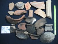Chronicle of the Archaeological Excavations in Romania, 2008 Campaign. Report no. 34, Hârşova, Tell<br /><a href='http://foto.cimec.ro/cronica/2008/034/foto-18-s1-ceramica-in-nivelul-de-la-suprafata-cetatii.jpg' target=_blank>Display the same picture in a new window</a>