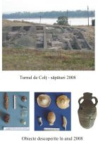 Chronicle of the Archaeological Excavations in Romania, 2008 Campaign. Report no. 37, Isaccea, La Pontonul Vechi (Cetate, Eski-kale)<br /><a href='http://foto.cimec.ro/cronica/2008/037/turnul-de-colt-2008.jpg' target=_blank>Display the same picture in a new window</a>