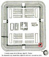 Cronica Cercetărilor Arheologice din România, Campania 2008. Raportul nr. 84, Slăveni<br /><a href='http://foto.cimec.ro/cronica/2008/084/planul-castrului-de-la-slaveni-cu-sectorul-cercetat-in-2008.jpg' target=_blank>Priveşte aceeaşi imagine într-o fereastră nouă</a>