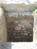 Chronicle of the Archaeological Excavations in Romania, 2008 Campaign. Report no. 166, Mănăstirea Caşin, Complexul istoric al fostei Mănăstiri Caşin<br /><a href='http://foto.cimec.ro/cronica/2008/166/2-manastirea-casin-2008-zidul-sudic-din-s-1-300.jpg' target=_blank>Display the same picture in a new window</a>