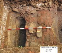 Chronicle of the Archaeological Excavations in Romania, 2009 Campaign. Report no. 119, Dealu Frumos<br /><a href='http://foto.cimec.ro/cronica/2009/preventive/119/4-s1-detaliu-podea-colaterala.jpg' target=_blank>Display the same picture in a new window</a>