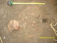Chronicle of the Archaeological Excavations in Romania, 2009 Campaign. Report no. 122, Focşani, Gologani<br /><a href='http://foto.cimec.ro/cronica/2009/preventive/122/FOCSANI-VN-Biserica-Sf-Nicolae53.JPG' target=_blank>Display the same picture in a new window</a>
