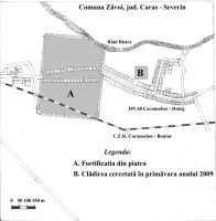Chronicle of the Archaeological Excavations in Romania, 2009 Campaign. Report no. 172, Zăvoi, Cimitirul ortodox<br /><a href='http://foto.cimec.ro/cronica/2009/preventive/172/Pl-I-Zavoi-2009.jpg' target=_blank>Display the same picture in a new window</a>