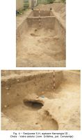 Chronicle of the Archaeological Excavations in Romania, 2009 Campaign. Report no. 15, Cheia, Vatra satului.<br /> Sector ILUSTRATIE-CHEIA-2017.<br /><a href='http://foto.cimec.ro/cronica/2009/sistematice/015/4-SectiuneaSH-asezare-Hamangia-III.jpg' target=_blank>Display the same picture in a new window</a>