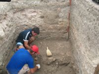 Chronicle of the Archaeological Excavations in Romania, 2009 Campaign. Report no. 27, Hârşova, La Cetate (Carsium)<br /><a href='http://foto.cimec.ro/cronica/2009/sistematice/027/14-HARSOVA-S-II-Nivelul-de-distrugere-al-turnurilor-portii.jpg' target=_blank>Display the same picture in a new window</a>