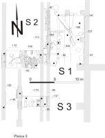 Cronica Cercetărilor Arheologice din România, Campania 2009. Raportul nr. 67, Sarmizegetusa<br /><a href='http://foto.cimec.ro/cronica/2009/sistematice/067/2-SARMIZEGETUSA-HD-Ulpia-Plan-S1-S2-S3.jpg' target=_blank>Priveşte aceeaşi imagine într-o fereastră nouă</a>