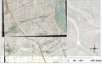 Cronica Cercetărilor Arheologice din România, Campania 2011. Raportul nr. 27, Giurgeni, Piua Petrii (La Mănăstire)<br /><a href='http://foto.cimec.ro/cronica/2011/027/fig-3-Amplasarea-bisericilor-de-la-Orasul-de-Floci.jpg' target=_blank>Priveşte aceeaşi imagine într-o fereastră nouă</a>