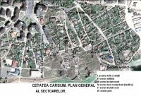 Chronicle of the Archaeological Excavations in Romania, 2011 Campaign. Report no. 30, Hârşova, La Cetate (Carsium)<br /><a href='http://foto.cimec.ro/cronica/2011/030/1-santierul-harsova-cetate-planul-sectoarelor.jpg' target=_blank>Display the same picture in a new window</a>