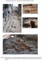 Cronica Cercetărilor Arheologice din România, Campania 2011. Raportul nr. 100, Bucure&#351;ti, Punct: Centrul istoric - str. Stavropoleos, tronsonul dintre str. Sm&#226;rdan &#351;i str. Po&#351;tei<br /><a href='http://foto.cimec.ro/cronica/2011/100/2.jpg' target=_blank>Priveşte aceeaşi imagine într-o fereastră nouă</a>