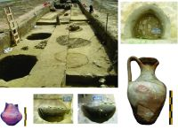 Chronicle of the Archaeological Excavations in Romania, 2015 Campaign. Report no. 83, Capidava, Cetate.<br /> Sector 06-ilustratie sector X.<br /><a href='http://foto.cimec.ro/cronica/2015/083-Capidava/pl-10-extramuros-gropi-menajere-alaturi-de-piese-descoperit.jpg' target=_blank>Display the same picture in a new window</a>