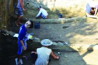Chronicle of the Archaeological Excavations in Romania, 2016 Campaign. Report no. 33, Hârşova, Tell<br /><a href='http://foto.cimec.ro/cronica/2016/033-Harsova-CT-Punct-Tell/fig-1-sc-pp-aspect-sapatura.jpg' target=_blank>Display the same picture in a new window</a>