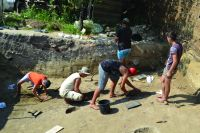 Chronicle of the Archaeological Excavations in Romania, 2016 Campaign. Report no. 33, Hârşova, Tell<br /><a href='http://foto.cimec.ro/cronica/2016/033-Harsova-CT-Punct-Tell/fig-2-sc-pp-aspect-sapatura.jpg' target=_blank>Display the same picture in a new window</a>