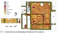 Cronica Cercetărilor Arheologice din România, Campania 2016. Raportul nr. 69, Sarmizegetusa.<br /> Sectorul necropola.<br /><a href='http://foto.cimec.ro/cronica/2016/069-Sarmizegetusa-HD-Punct-Praetorium-Procuratoris/fig-1-praetorium-procuratoris.jpg' target=_blank>Priveşte aceeaşi imagine într-o fereastră nouă</a>