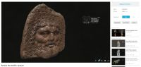 Chronicle of the Archaeological Excavations in Romania, 2018 Campaign. Report no. 3, Alba Iulia, Sediul guvernatorului consular (Mithraeum III).<br /> Sector Apulum_2019\Ilustratie.<br /><a href='http://foto.cimec.ro/cronica/2018/1-sistematice/003-Alba-Iulia-Palatul-Guv-Cercetari-interdisciplinare-AB-s/pl-07-palguv2018-3dscan-antefix.jpg' target=_blank>Display the same picture in a new window</a>