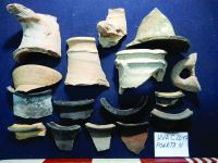 Chronicle of the Archaeological Excavations in Romania, 2019 Campaign. Report no. 34, Hârşova, Cetate, str. Cetăţii - str. Carsium<br /><a href='http://foto.cimec.ro/cronica/2019/01-sistematice/034-harsova-ct-carsium-s/guri-de-amfore-si-oale-descoperite-in-campania-2019.JPG' target=_blank>Display the same picture in a new window</a>