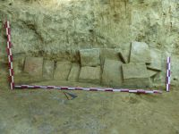 Chronicle of the Archaeological Excavations in Romania, 2019 Campaign. Report no. 55, Pantelimon, Cetate<br /><a href='http://foto.cimec.ro/cronica/2019/01-sistematice/055-pantelimonul-de-sus-ct-ulmetum-s/12-diagnostic-extramuros-blocaj-m36.JPG' target=_blank>Display the same picture in a new window</a>