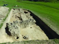 Chronicle of the Archaeological Excavations in Romania, 2019 Campaign. Report no. 55, Pantelimon, Cetate<br /><a href='http://foto.cimec.ro/cronica/2019/01-sistematice/055-pantelimonul-de-sus-ct-ulmetum-s/9-diagnostic-extramuros-s-i-ii-vedere-catre-e.JPG' target=_blank>Display the same picture in a new window</a>